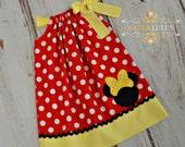 Minnie Mouse Birthday Dress - Minnie Mouse Dress - Minnie Dress - Disney trip - Minnie pillowcase Dress