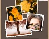 Digital Photo Frame Pack - PHOTO FRAMES - Scrapbooking Clip Art - Instant Download