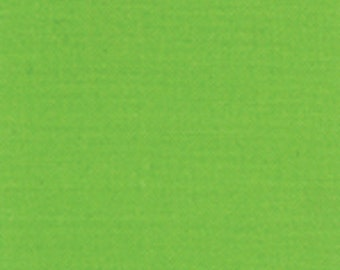 "Bright Green Solid Fabric - Bella Solids ""Sprout"" by Moda 1/2 Yard"