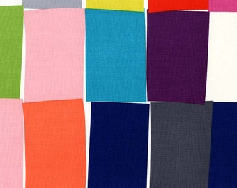 CLEARANCE - Colorful Rectangle Paint Chips Fabric - Chrome by Mark Hordyszynski from Michael Miller, 2/3 Yard - End of Bolt