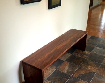 Walnut Large Bench Mid Century to Modern Style For your Hallway Entryway Gallery Sofa Table Etc