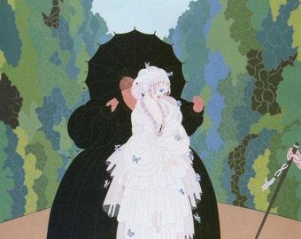 Erte Vintage Print, Romain de Tirtoff Illustration, Oriental Tale, Debutante, Art Deco Home Decor