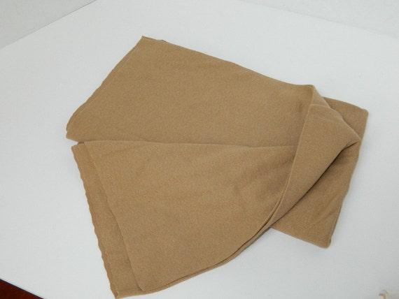 Cotton Knit Tan Fabric Destash Fabric Brown Tan Fabric
