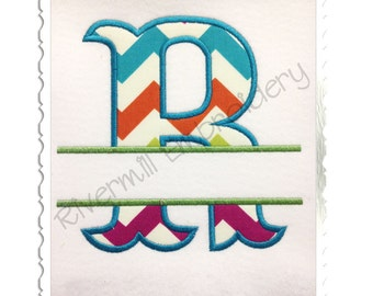 Split Carnival Applique Alphabet Machine Embroidery Alphabet - 4 Sizes