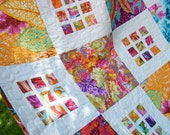 Baby quilt, girl quilt, crib quilt, baby blanket, lap quilt, toddler quilt, wall hanging, floral quilt, patchwork, nursery bedding