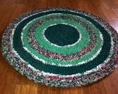 "crochet rag rug round ""Green Gables"" (29"" round)"