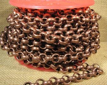 2 Feet 11mm Rolo Chain - CH115 - Antique Copper