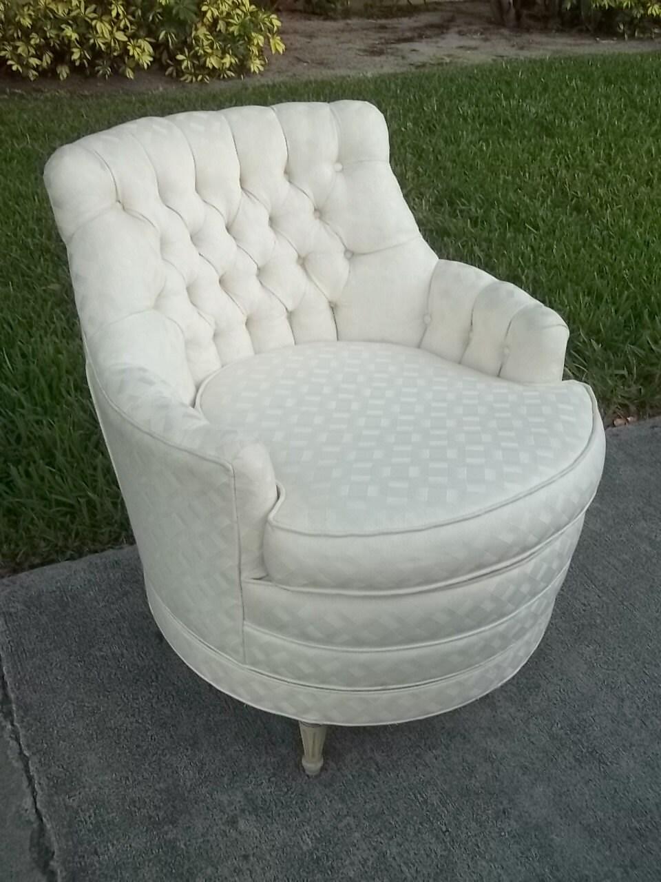 Cute Cupcake Chair Gorgeous White Vintage Tufted Tub Swivel