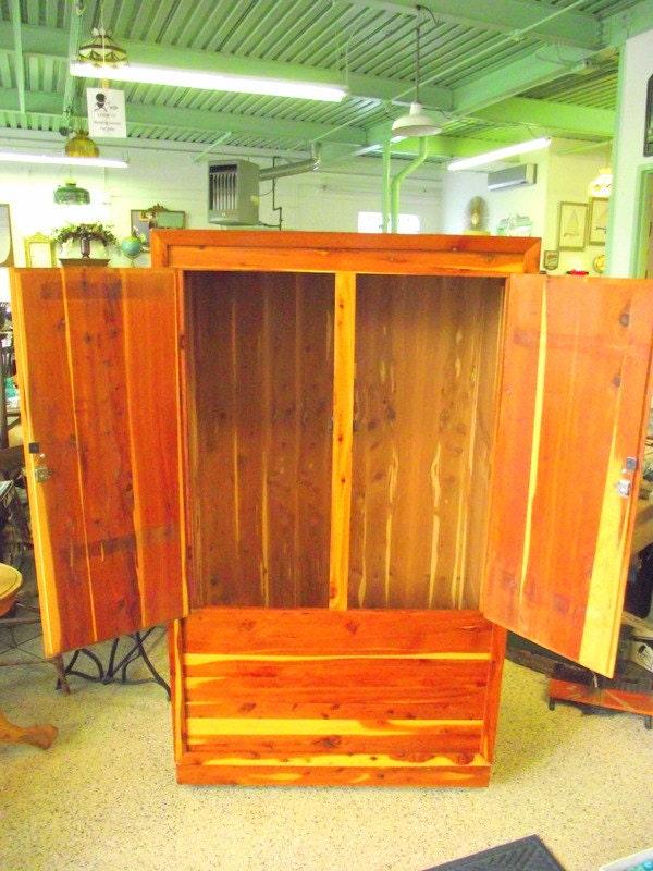 Genuine Murphy Solid Cedar Armoire Wardrobe Closet With Double