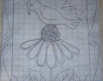 Primitive Rug Hooking Pattern-'Bloom'in Time #128