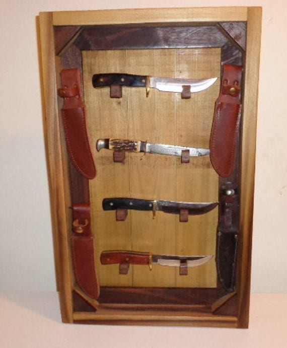 knife display case for hunting knives wall mounted by woodenstitch. Black Bedroom Furniture Sets. Home Design Ideas