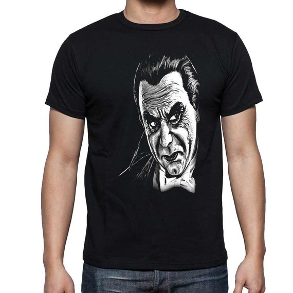 Bela Lugosi Monster Horror Movie Dracula Black T Shirt FREE US SHIPPING