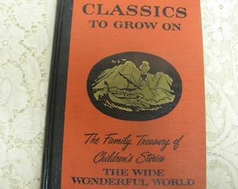 Family Treasury book the Wide Wonderful World 1956 vintage edition Children's stories hardbound book