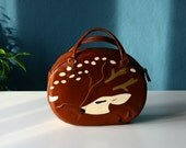 Sleeping Deer Leather Handbag