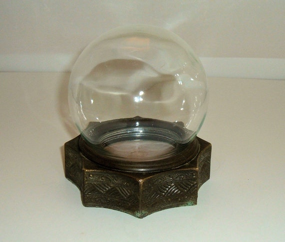 Bowl O Beauty Real Roses Glass Globe Terrarium With Brass Base