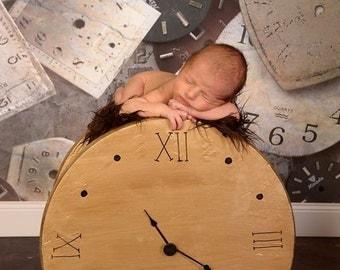 Original Clock Photography Prop