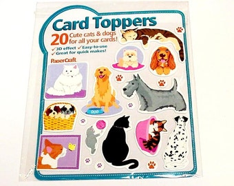 Dog Cat Stickers, 3-D Pet Animal Stickers, Scrapbooking Card Making Embellishments, Card Toppers itsyourcountry