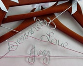 Personalized Wedding Hanger in WALNUT Wood, Bride Hanger, Wedding Dress Hanger, Name Hanger, Wedding Gift