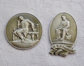 Vintage Soviet aluminum decors to use in your artwork.