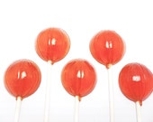 12 BASKETBALL LOLLIPOPS - Available in any flavor or color
