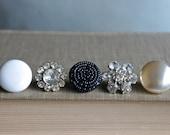 Formal-Push pins, decorative thumb tacks, vintage jewelry push pins, thumb tacks, push pins, thumb tack set by My Sweet Maison.