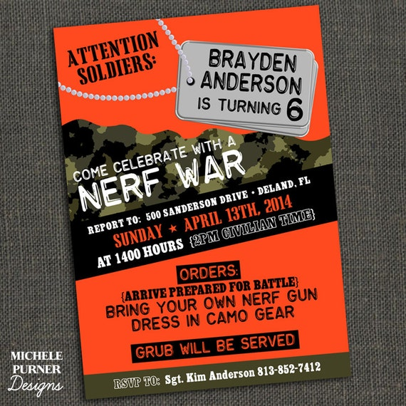 Nerf War Party Invitations are Elegant Template To Make Luxury Invitations Template