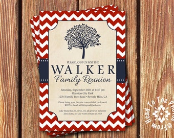Family Reunion Invitations •Pick your Colors