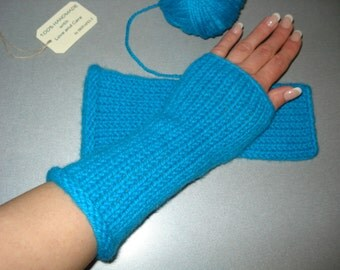 Wool Fingerless Mittens Gloves Hand Warmers Cosy Arm Wrist Cuffs - Knit and Crochet - Spring Autumn Fall Winter Women Fashion – One size