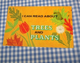 i can read about trees and plants, vintage 1975 children's book