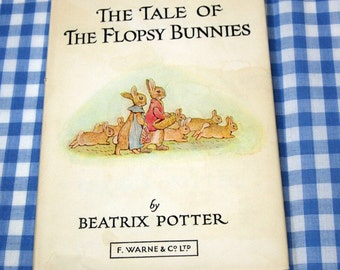 the tale of the flopsy bunnies, vintage 1970s children's book