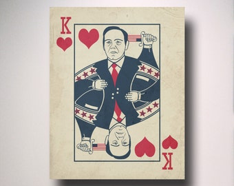 House of Cards Poster / Print / Art / Poster / Minimalist Typography / Frank Underwood