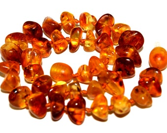 NATURAL BALTIC AMBER Baby Teething Necklace
