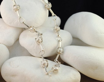 Solid Sterling Silver and Pearl Necklace