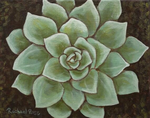 Dudlia Succulent Art : 8x10 original painting