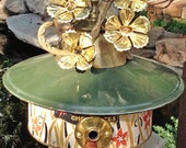 "Birdhouse, Metal Birdhouse, Reclaimed Objects Birdhouse, ""Golden Nugget"""