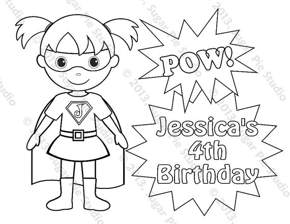 like this item - Superhero Girl Coloring Pages