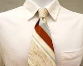 Textured Striped Necktie