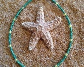 Green and Yellow Beaded Anklet