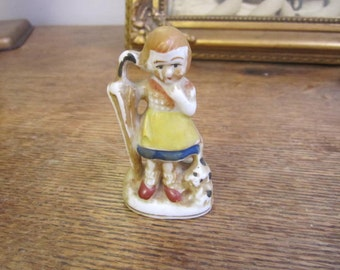 """Little Girl w Umbrella """"Will it Rain Today?"""" ....... figurine Made in Occupied Japan."""