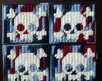 Items similar to Monster High Skull PLastic Canvas Pattern on Etsy