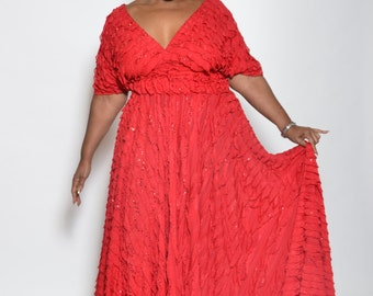 Long Evening Wrap Dress, Fits all sizes, very versatile