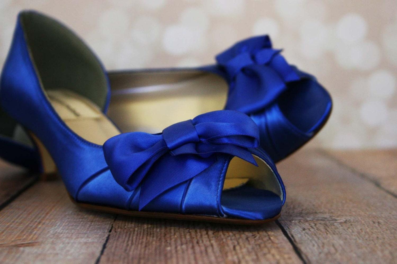 Royal Blue Wedding Heels: SAMPLE SALE Royal Blue Peep Toe Wedding By