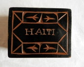 Hand-Made and Hand-Carved Wooden Haiti Cedar Box
