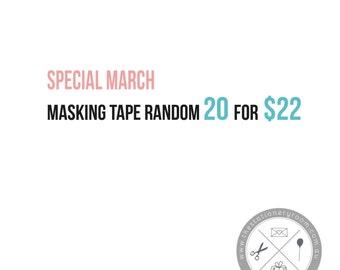 Masking Tape Goodie Bag  - Japanese Washi Tape Surprise Bag - Random 20 Pack