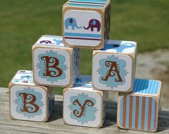 Elephant  Theme Baby Blocks Gift