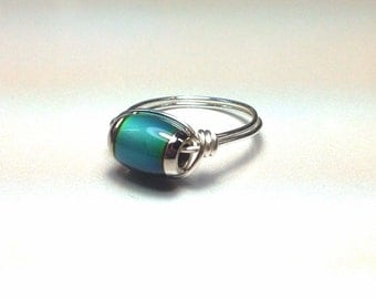 Mood Ring - Wire Wrapped Unique - Made to Order