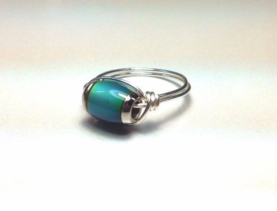 mood ring wire wrapped unique made to order