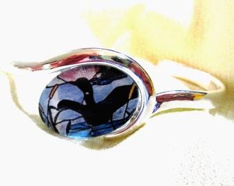 Loon Silver Bracelet