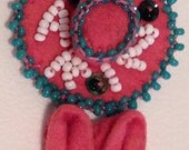 Beaded Felt Souvenir Arizona Pin Hat and Shoes Handmade in the Southwest