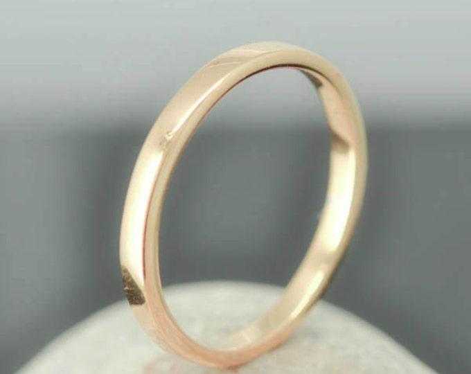 14K Rose Gold Ring, 1.5mm x 1.5mm, Wedding Band, Wedding Ring, Rose Gold Band, Flat Band, Square Band, Size up to 9